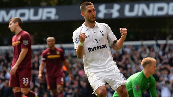 Clint Dempsey celeb Spurs v City