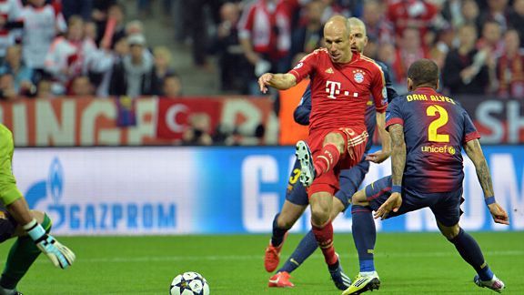 Bayern Munich enjoyed the best of the early exchanges against Barcelona