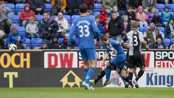 Callum McManaman fires Wigan into the lead