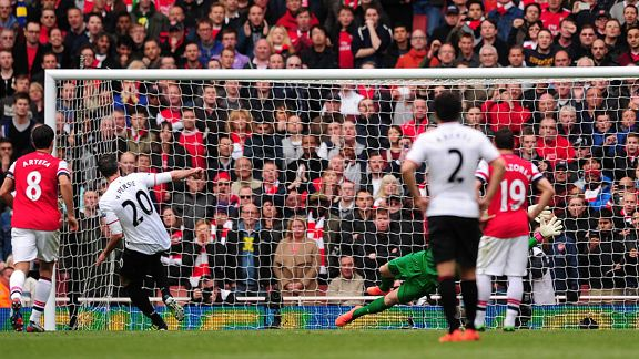 Robin van Persie penalty Arsenal United goal