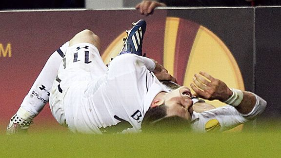 Gareth Bale turned his ankle in the first half of Tottenham's 2-2 draw with Basel on Thursday