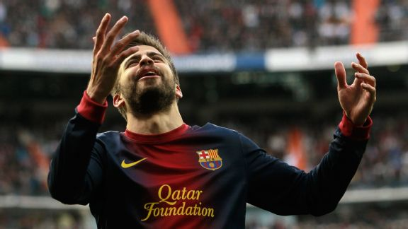 Barcelona's Gerard Pique reacts after losing 2-1 to Real Madrid.