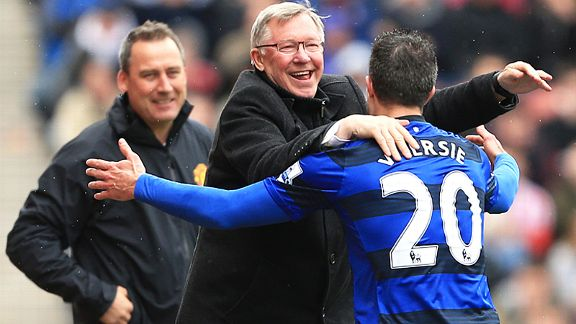 Sir Alex Ferguson's final great signing was Robin van Persie, who fires United to a 20th title in 2013
