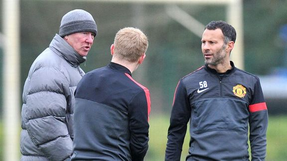 Sir Alex Ferguson, Paul Scholes, Ryan Giggs