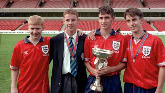 Scholes was part of the England Under-18s side which won the 1993 European Championships