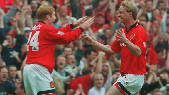 Scholes helped United to the 1995-96 Premier League title - his first at Old Trafford