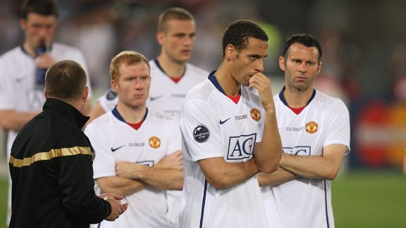 Manchester United were unable to back up their 2009 Premier League title with Champions League success