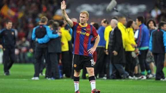 Scholes retired following the 2011 Champions League final against Barcelona