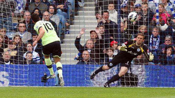 Hatem Ben Arfa scores for Newcastle against QPR