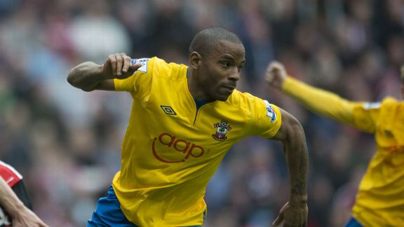 Jason Puncheon celebrates his goal against Sunderland