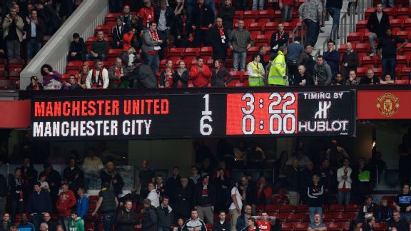 Manchester City demolish Manchester United at Old Trafford.