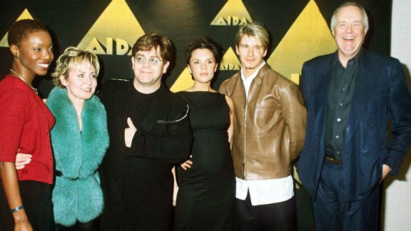 Elton John, Lulu, Victoria Adams, David Beckham, Tim Rice
