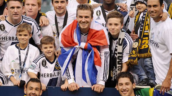 David Beckham left LA Galaxy after helping the team to glory in the 2012 MLS Cup