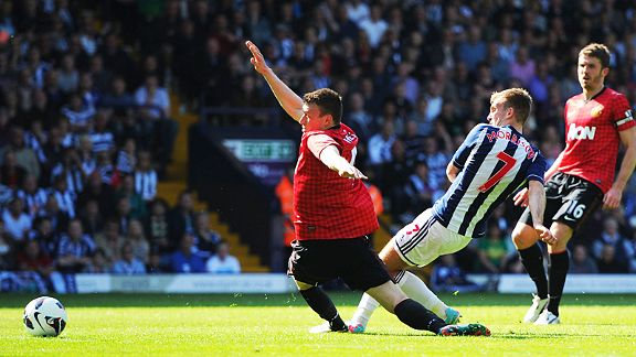 James Morrison sparks a mini fightback by scoring for West Brom against Man United