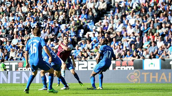 Ron Vlaar earns Aston Villa a 2-2 draw at relegated Wigan Athletic