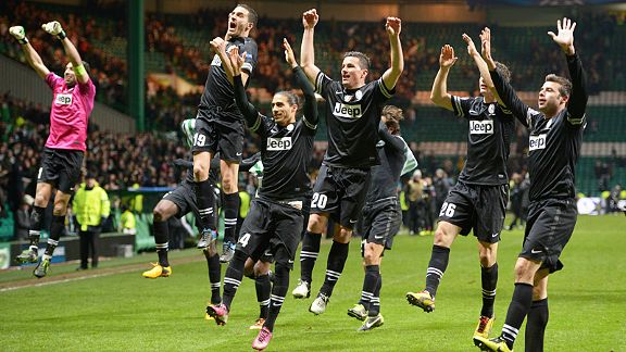 Juventus effectively eliminated Celtic after winning 3-0 at Parkhead in their last-16 first-leg match