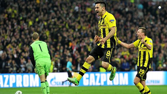 Ilkay Gundogan gave Borussia Dortmund hope by sending Manuel Neuer the wrong way from the penalty spot