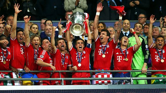 Bayern Munich lift the Champions League