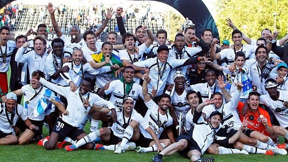 Guimaraes beat Benfica 2-1 to win the Taca de Portugal for the first time in their history
