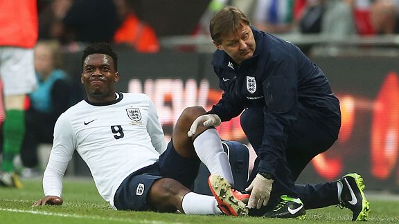 Daniel Sturridge's first start for England came to a premature end after just 33 minutes