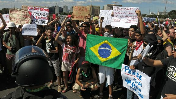 Brazil protests Confederations Cup