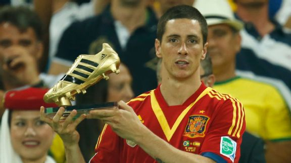Despite winning the competition's Golden Boot, Fernando Torres failed to fire in the Confederations Cup final.