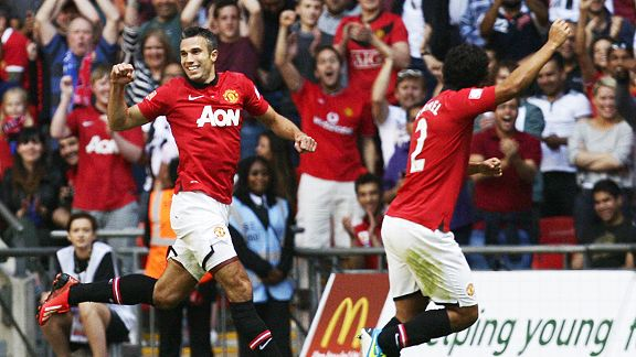 Robin van Persie needed just six minutes to get his season off to a goalscoring start