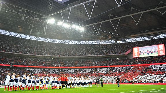 Wembley is ready as the England and Scotland teams line up