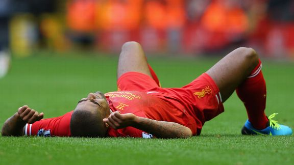 Glen Johnson injured Liverpool