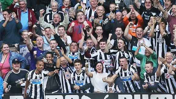Joy for the Geordies after Loic Remy scored his first goal for Newcastle against Hull City.