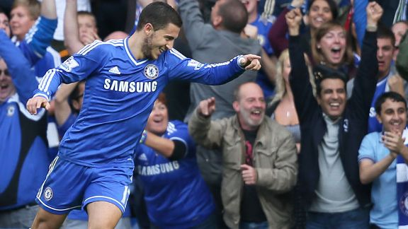 Eden Hazard brought Chelsea back on level terms with Cardiff City.