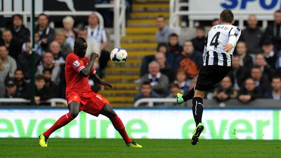 Yohan Cabaye first goal Newcastle v Liverpool