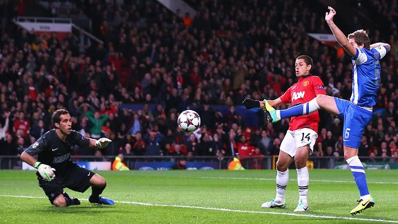 Inigo Martinez puts through his own net to give Manchester United a very early lead.
