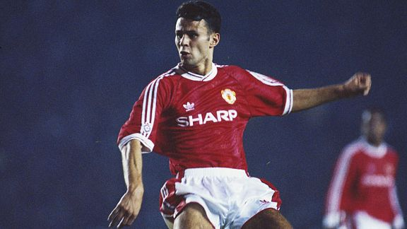 Ryan Giggs made his breakthrough into the Man United team in 1991.