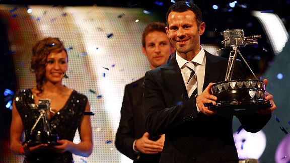 As well as the PFA award, Ryan Giggs also won the BBC Sports Personality of the Year in 2009.