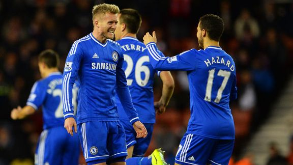 Andre Schuerrle and Eden Hazard