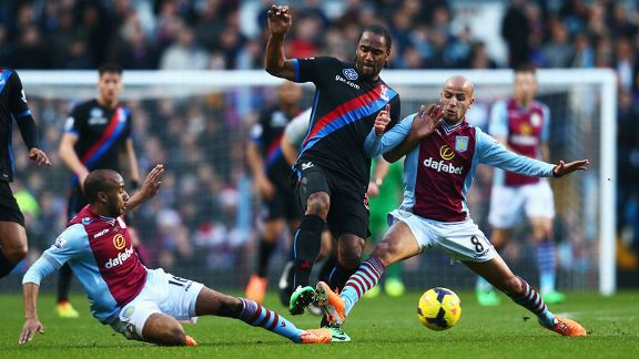 Aston Villa and Crystal Palace battle