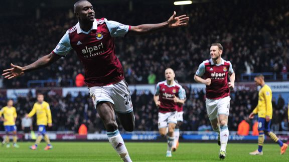 Carlton Cole celeb West Ham vs. Arsenal
