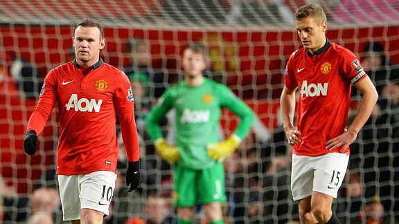 Wayne Rooney and Nemanja Vidic have nowhere to hide as United slip to defeat to Spurs.