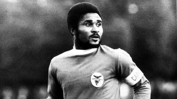 Eusebio wearing the captain's armband for Benfica