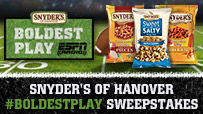 Snyder's of Hanover #BoldestPlay Sweepstakes
