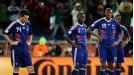 France players look dejected against Mexico