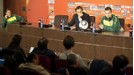 Dunga smoulders at a press conference