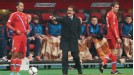 Fabio Capello yells instructions during Russia's 1-0 win over Portugal