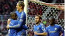 Fernando Torres celebrates after netting Chelsea's opener at Sunderland