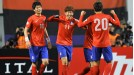 Son Heung-min celebrates after scoring the winner for South Korea against Qatar