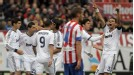 Real Madrid celebrate their leveller against Atletico