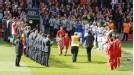 Royal send-off: Jamie Carragher receives a guard of honour before the game against Reading