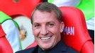 Brendan Rodgers smiles ahead of kick-off at the Stadium of Light.