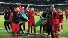 The party is under way after Portugal booked their place at the World Cup.